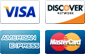 Accepted payment methods include Visa, Discover card, American Express and Mastercard